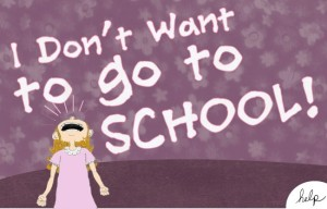 a girl who doesn't want to go to school