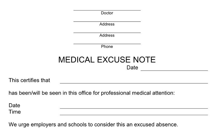 how to ask your dr for a sick note